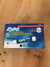 Expo Low Odor Dry Erase Marker, Bullet Tip, Blue, Dozen 82003