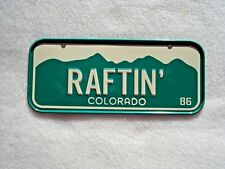 1986 COLORADO Post Cereal License Plate # RAFTIN'