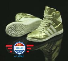 1/6 Adidas style Gold color sneakers PEG STYLE for 12'' FEMALE Figure Doll