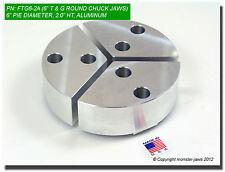 6 Tongue Amp Groove Aluminum Round Chuck Soft Top Jaws 20 Ht 6 Pie Diameter