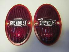 1933-1936 Chevrolet tail light lens pair