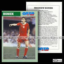 BONIEK ZBIGNIEW (JUVENTUS FC, AS ROMA) - Fiche Football / Calcio (1995)