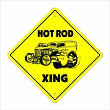Hotrod Crossing Decal Zone Xing Racing Race Car Parts Roadster Racetrack Trac