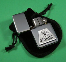 SLANTE Petrol Lighter in Pouch Free UK Post Drinking Cheers Pubs Celtic Irish