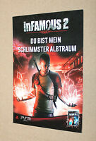 Infamous 2 rare Promo Postcard Post Card Playstation 3 PS3