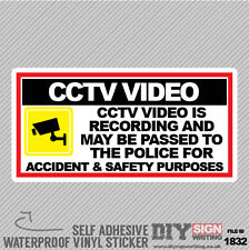 Video CCTV è la registrazione per incidenti e di sicurezza volte Autoadesivo Adesivo
