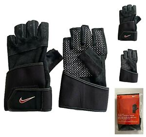 NIKE POWER WEIGHT TRAINING GLOVES DUMBELLS BARBELL GYM FITNESS LIFTING MEN'S L