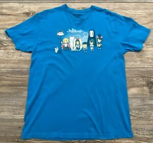 teeturtle Graphic Tee Adult Large Cotton By Ghibli Studios Turquoise Blue