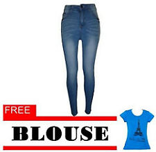 Fashion Balaynor Skinny High Waist Jeans with Free Blouse