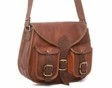 Men and Women's Vintage Briefcase Soft Leather Tote Messenger Bag Shoulder New