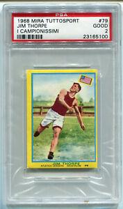 1968 Mira Tuttosport I Campionissimi 79 James Jim Thorpe PSA 2 USA Olympics Card