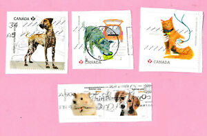 stamps Canada USA DOG CAT HAMSTER 🐕🐶🐱🐈 pets animals Canadian