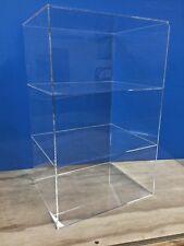 "Acrylic Lucite Countertop Display ShowCase Cabinet 12"" x 9.5"" x 19""h 2 shelves"