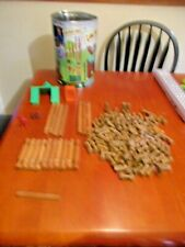 Knex The Original Lincoln Logs Fort Red Pine Tin has no Lid