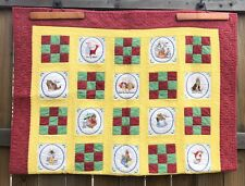 "Peter Rabbit and Friends Machine Embroidered Quilted Blanket 47"" x 69"""