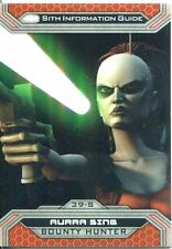 Star Wars Chrome Perspectives II Gold Parallel Base Card 39-S Aurra Sing