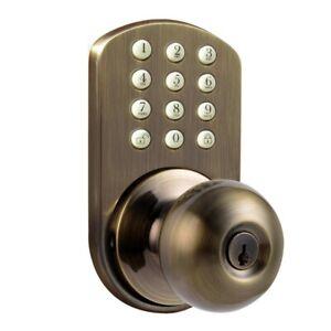 Keyless Door Locks for Homes Keypad Front Door Handle Knob Digital Light Up Pad