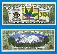 Colorado Marijuana Million Dollar Novelty Bill Cannabis Weed Pot ~ NIP SL