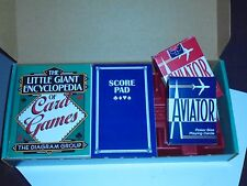 Little Giant Encyclopedia of Card Games Gift Set Cards Score Pad Tray Pencil