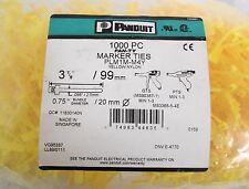 (≈850) Panduit PLM1M-M4Y Yellow Nylon Marker Ties