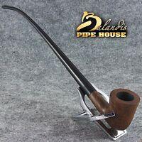 HAND MADE SMOOTH BRIAR wood TOBACCO LONG smoking pipe 996933 LOTR Churchwarden