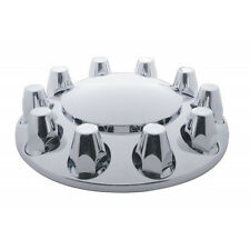 Set of 2 Chrome Front Axle Wheel Cover with Hub Cap & 33mm Nut Covers