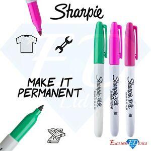 Sharpie Permanent Marker PensFine Tip Set of 3 Colours, Quick Drying - Genuine