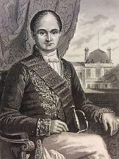 Jérôme Bonaparte Roi Westphalie estampe 1853 gravure sur acier Empire Napoléon