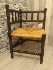 Antieke laat 19e eeuwse Bobbin Turned hoek Kinderstoel