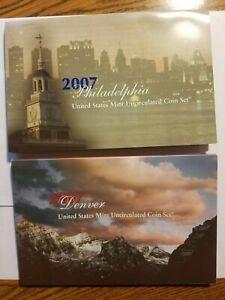 2007 P & D US Mint Set.