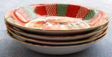 Set of FOUR Arita Imari Peacock Soup Bowls Made in Japan