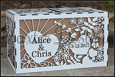 Wooden Wedding Engagement Party Card Wishing Well Box Raw Painted