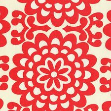 AMY BUTLER Lotus WALL FLOWER Cherry Red QUILTING Fabric FQ Geometric MOD Floral
