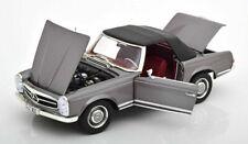 NOREV 1963 Mercedes Benz 230SL W113 Convertible Grey Metallic 1:18 183498*New!