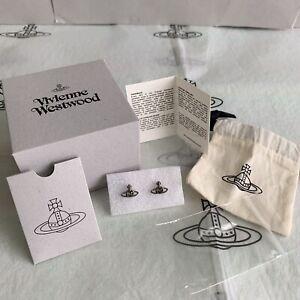 Authentic Vivienne Westwood Nano Earrings ~ Ruthenium Black Diamond ~ RRP £60