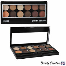 CITY COLOR Eye Shadow Palette Make Up Kit  12 Shades NAKED CL005