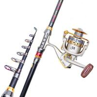Carbon Fiber Ultralight Travel Telescopic Fishing Rod Sea Spinning Pole Sale