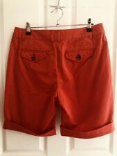 Sportscraft Size 10 Womens 'becci Twill' Orange Shorts Casual Summer