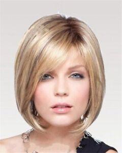 Women Wig Short Straight Hair Blonde Fashion European Female Wig+Wig Cap