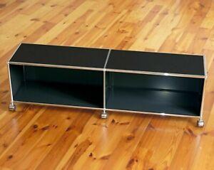 * USM Haller TV Lowboard 150 cm Seiten geschlossen * Sideboard * Graphit Schwarz