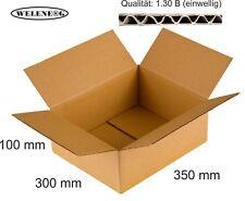 40 Faltkartons 350x300x100mm B-410g/m2  Versandkarton Falt Kartons [ braun ]