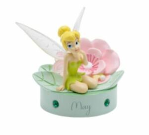 TINKER BELL BIRTHSTONE MAY  SCULPTURE ORNAMENT 9CM WIDDOP AND CO