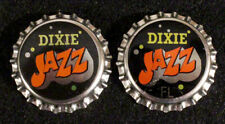 2 DIXIE JAZZ (FLORIDA TAX) PLASTIC BEER BOTTLE CAP NEW ORLEANS, LOUISIANA CROWNS