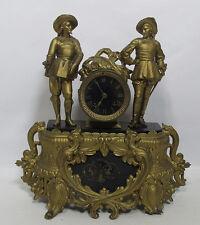 Don Juan & Don Cesar Sculpture Bronzed Figural Mantel Shelf Clock
