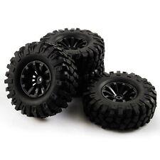 4pcs 1:10 Rock Crawler RC Car 10 Spoke Wheel Rims & Diameter 108mm Tires Black