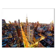 Abstract Morden New York City Empire State Building Canvas Art Poster Wall Decor