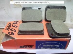 Saab 99. New brake pads Rear (Girling) 1975-76