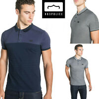 883 Police Mens New Designer Collared Smooth Cotton Blend Polo Shirt T shirt Tee