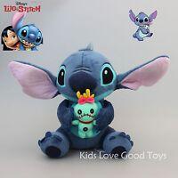 "Disney LILO & STITCH Stitch and Scrump 24cm/9.6"" Soft Plush Stuffed Doll Toy NEW"