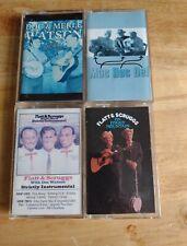 Doc Watson/Flatt And Scruggs 4-Cassette Lot-Mac,Doc & Mel,Home Sweet Home Etc